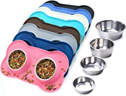 Vivaglory Dog Bowls Stainless Steel Water and Food Feeder