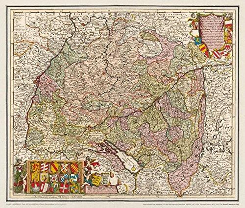Historische Karte: Baden-Württemberg 1689