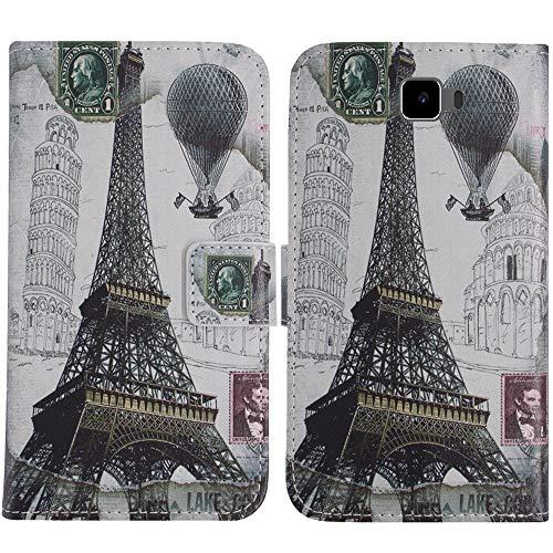 TienJueShi Eiffelturm Flip Book Stand Brieftasche Leder Tasche Schütz Hülle Handy Handy Hülle Für Archos 55 Cobalt Plus Abdeckung Fall Wallet Cover Etüi