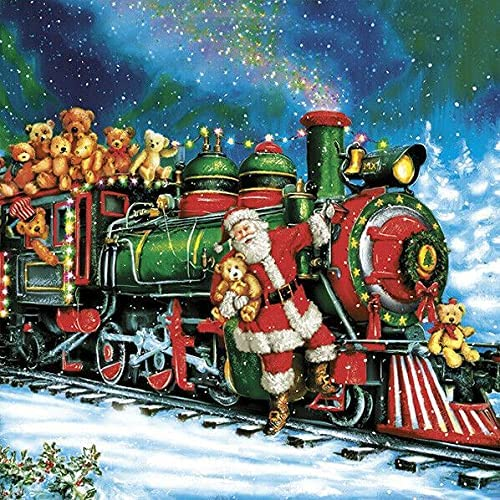 Christmas Max 46% Limited time cheap sale OFF Santa Train Paper Decoupage Napkins Designed Luncheon