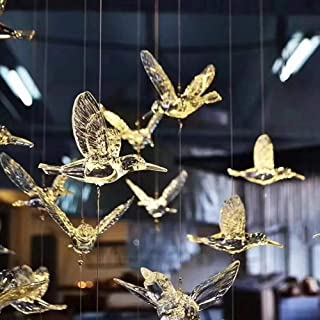 30 Pcs DIY Flying Bird Decorative Ceiling Hanging Ornaments with 148ft Transparent line Christmas Tree for Home Kindergart...