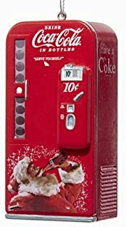 Kurt Adler Coca-Cola Vending Machine with Santa Ornament #