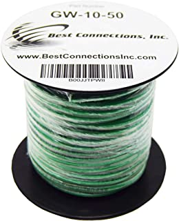 10 GA AWG 50 Feet Solid Copper Green Ground Wire UL Listed Satellite Cable