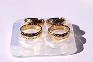 For resin, silicone molds to make rings with a tutorial - For epoxy resin - Make resin rings - Easy casting Size 7,8.5,9.5,10 (z-36)
