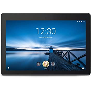 Lenovo Tab E10 10.1''HD Tablette tactile Noire (Processeur Qualcomm APQ8009 4Coeurs, 1 Go de RAM, eMMC 16 Go, Android 8.0, Wifi)