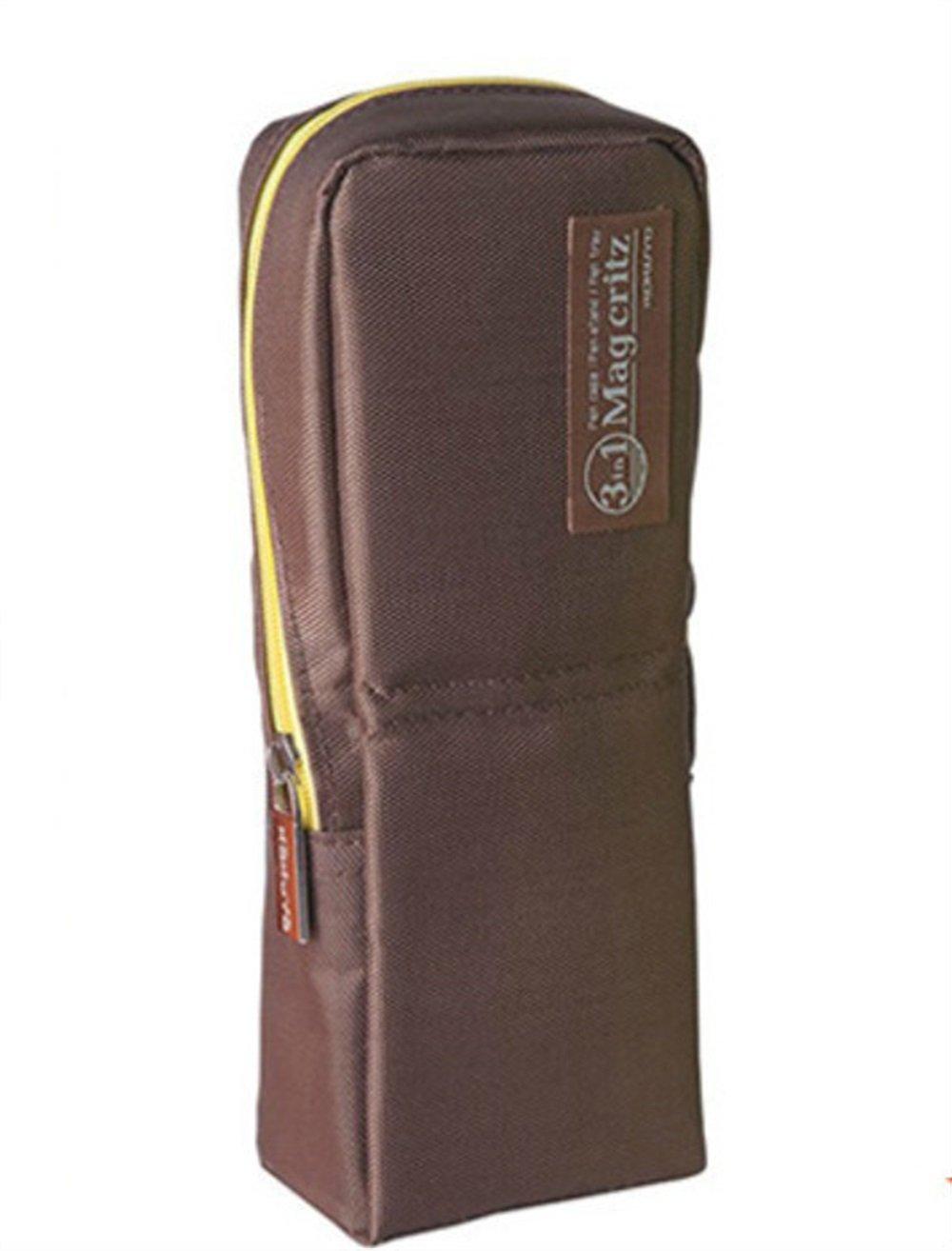 Sun Hero - Estuche para lápices, estilo simple, vertical, color marrón: Amazon.es: Oficina y papelería