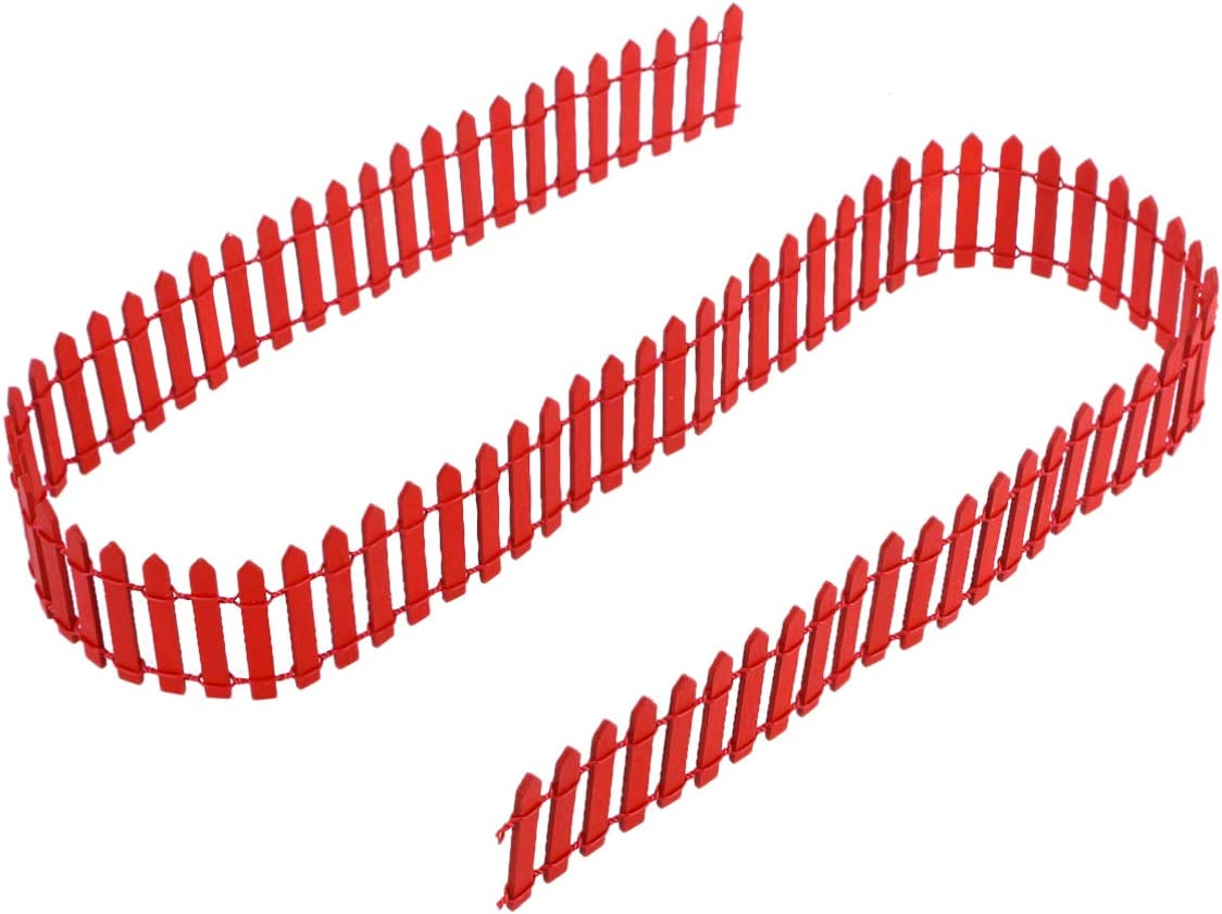 DOITOOL 1pc 100cm x 5cm Red Tree Mini Fence Fees free!! Christmas Fen Sale Picket