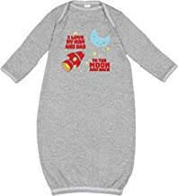 inktastic I Love My Mom and Dad to The Moon and Back Newborn Layette