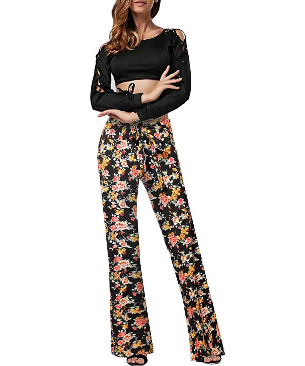 Hybrid /& Company Womens Super Comfy Flowy Wide Leg Palazzo Pants Made in USA