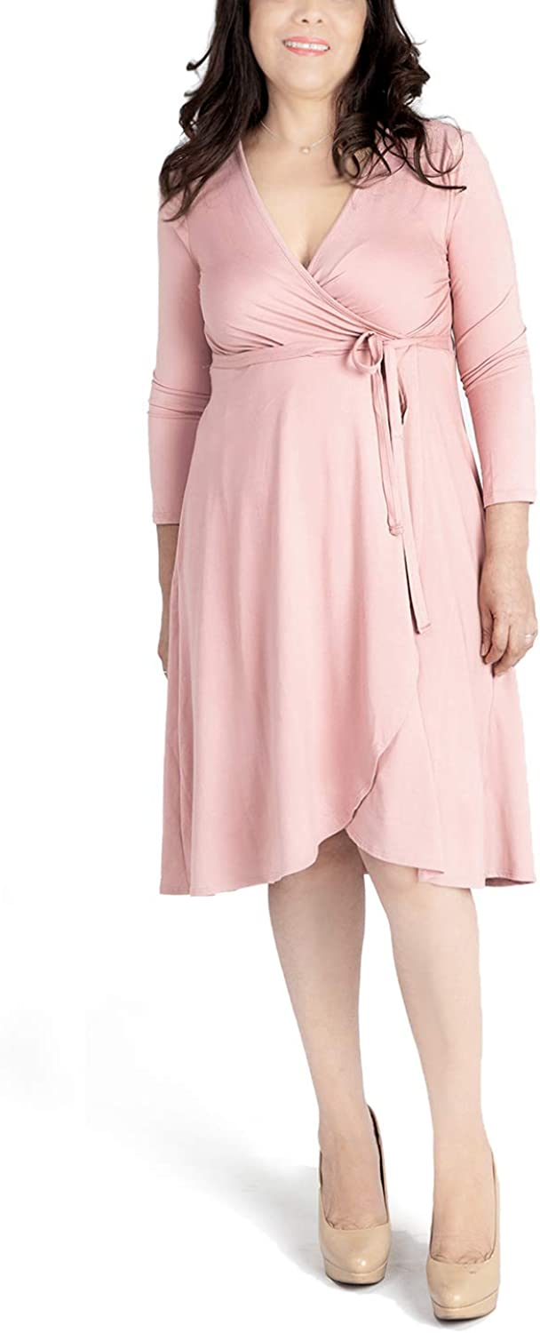 Coco Women's 3/4 Sleeve Missy Solid Dress - Made in USA