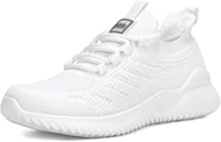 Akk Women's Sneakers Mesh Ultra Lightweight Breathable Athletic Running Walking Fashion Outdoor Sport Gym Shoes White Size 6