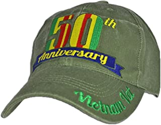 50th Anniversary Vietnam Vet baseball cap. OD Green
