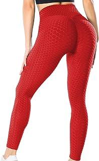KIWI RATA Leggings Sportivi Donna Pantaloni Anticellulite Vita Alta Leggins Yoga Push Up Pants Fitness Elastico Opaco Resi...