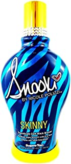 2014 SNOOKI SKINNY DARK BLACK BRONZER FIRMING INDOOR TANNING BED LOTION SUPRE, 12 oz