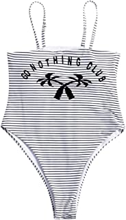 f0a40297ac71 Xinantime Costume da Bagno Intero Bikini con Stampa a Strisce di Cocco da  Donna**