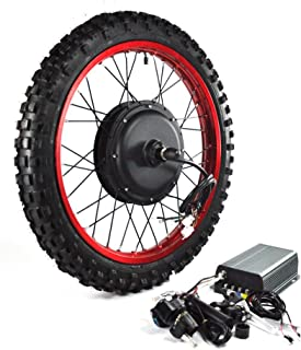 NBpower 2019 Newest Motorcycle Wheel: 18inch 3000W Electric Bike Conversion Kit, 72V 80A Sine Wave Programmable Controller, 3000W Brushless gearless Motor, 3000W Electric Bike Kit.