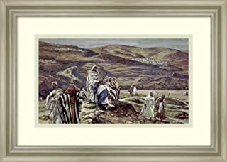 Framed Wall Art Print Christ Sending Out The Seventy Disciples Two by Two by James Jacques Joseph Tissot 17.75 x 12.62