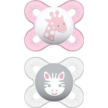 MAM Start Newborn Pacifiers (2 pack, 1 Sterilizing Pacifier Case), Newborn Baby Girl Pacifiers, Best Pacifier for Breastfed Babies, Self Sterilizing Baby Pacifier Case