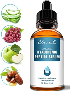 Hyaluronic Acid Serum for Face and Eyes, Enhanced with Eight Peptides, Anti Wrinkle Anti Aging Serum, Skin Hydrating Serum with Vitamin E and B5, Visibly Plump, Firm & Smooth the Skin, Reduce Redness