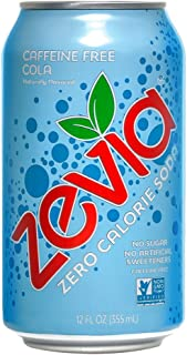 Zevia Zero Calorie Soda, Caffeine Free Cola, Naturally Sweetened Soda, Cola-flavored Carbonated Soda, Refreshing, Full of Flavor and Delicious Natural Sweetness with No Sugar, 12 Fl Oz, Pack of 24