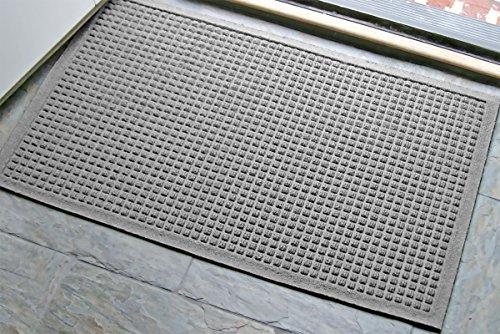 WaterHog Fashion Commercial-Grade Entrance Mat, Indoor/Outdoor Charcoal Floor Mat  3' Length x 2' Width,   Medium Grey     by M+A Matting - 280-157-3F2F