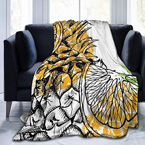 Lawenp Manta de Tiro de piña Manta de Microfibra Ultra Suave Manta de sofá Suave y cálida para sofá de Cama Sala de Estar
