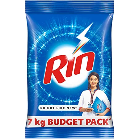 Rin Advanced Detergent Powder, Washing Powder For Stainless And Clean Clothes, 7 kg
