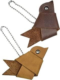 woodland leather keychains