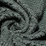 Stoff am Stück Stoff Baumwolle Plüsch Teddy grau Webpelz