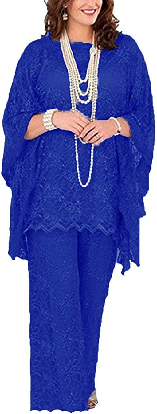 Women's Chiffon Mother OFFicial shop of The Bride Lace Dresses Pant Recommendation Su Evening