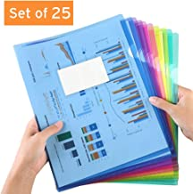 Clear Document Folder Project Pockets (25Pack (Colored))