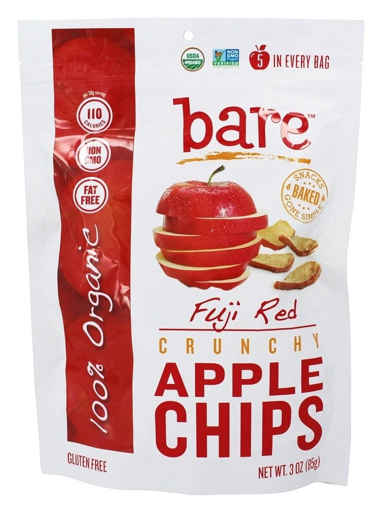 Bare Fruit Large-scale sale Great interest - 100% Organic Bake-Dried Chips pa Apple 3 Fuji oz