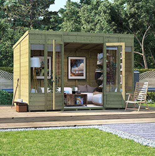 BillyOh Bella Tongue and Groove Pent Summerhouse, Range of Sizes, Pressure Treated Option (Pressure Treated, 10x8)