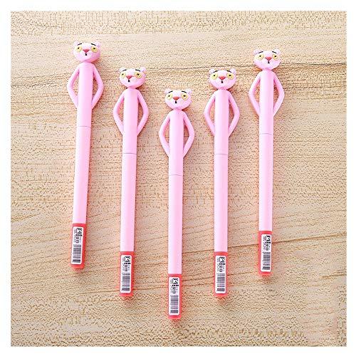 Aqiong KAERMA 1 Stück Kawaii Nette Silikon-Karikatur Sweet Pink Panther Schule Bürobedarf Schreibwaren 0,5 mm Gel Pen kreativer Student Geschenk cartoleria (Color : Pink)