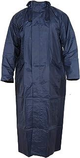 MAGIC Women's Nylon Hooded Waterproof Long Lightweight Waterproof Raincoat|Overcoat Full Length (Blue, Large)