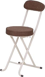 武田コーポレーション 【折りたたみ椅子・パイプ椅子・チェア・キッチンチェア】 背付き 折りたたみチェアー ブラウン SOT-75BR