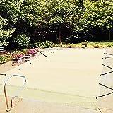 VEVOR Cubierta de Seguridad para Piscina, Tamaño de 4 x 8 m Cobertor de Piscina Rectangular Tamaño de Piscina de 3,7 x 7,7 m Lona de Piscina de PVC Color Beige, Fácil de Instalar y Prevenir Escombros
