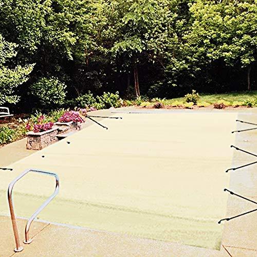 VEVOR Pool Abdeckplane Rechteckig 4 x 7 m Schwimmbadabdeckung PVC-Material Poolabdeckung Beige Winterabdeckplane Rechteck Poolplane Schmutzabweisende Abdeckplane für Pool...