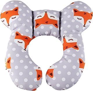 Vocheer Baby Reisekissen, Kopf  und Nackenstützkissen für Kindersitz, Neugeborene Kinderwagen Autositz Einsatzkissen, für 0 1 Jahre altes Baby, Fox