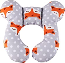 Baby Neck Support Pillow, KAKIBLIN Infant Travel Pillow for Car Seat, Pushchair (Gray Fox)