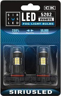 SIRIUSLED 5202 LED Fog Light Bulbs DRL 2700 Lumens Super Bright 2835 26-SMD 12V LED Bulbs Replacement for Cars, Trucks, 60...