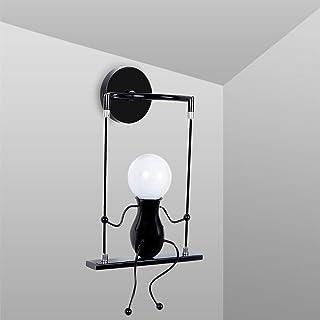Applique Murale LED Interieur, Swing Enfants Lampe de Chevet, Lampe Murale Interieur Créative Convient pour Chambres Salon...