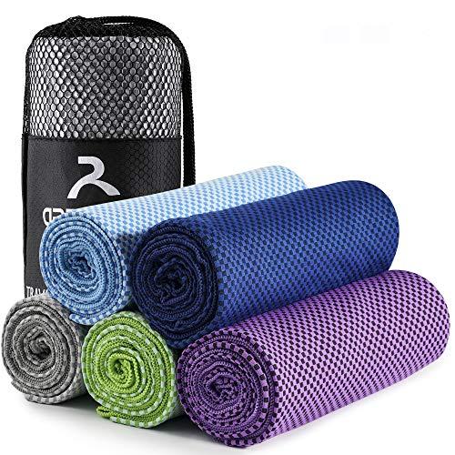 arteesol Mikrofaser Handtuch Handtücher für Sport Fitness Sauna Microfaser Badetuch, Reisehandtuch schnelltrocknend & saugstark (52 * 100cm, Grau)