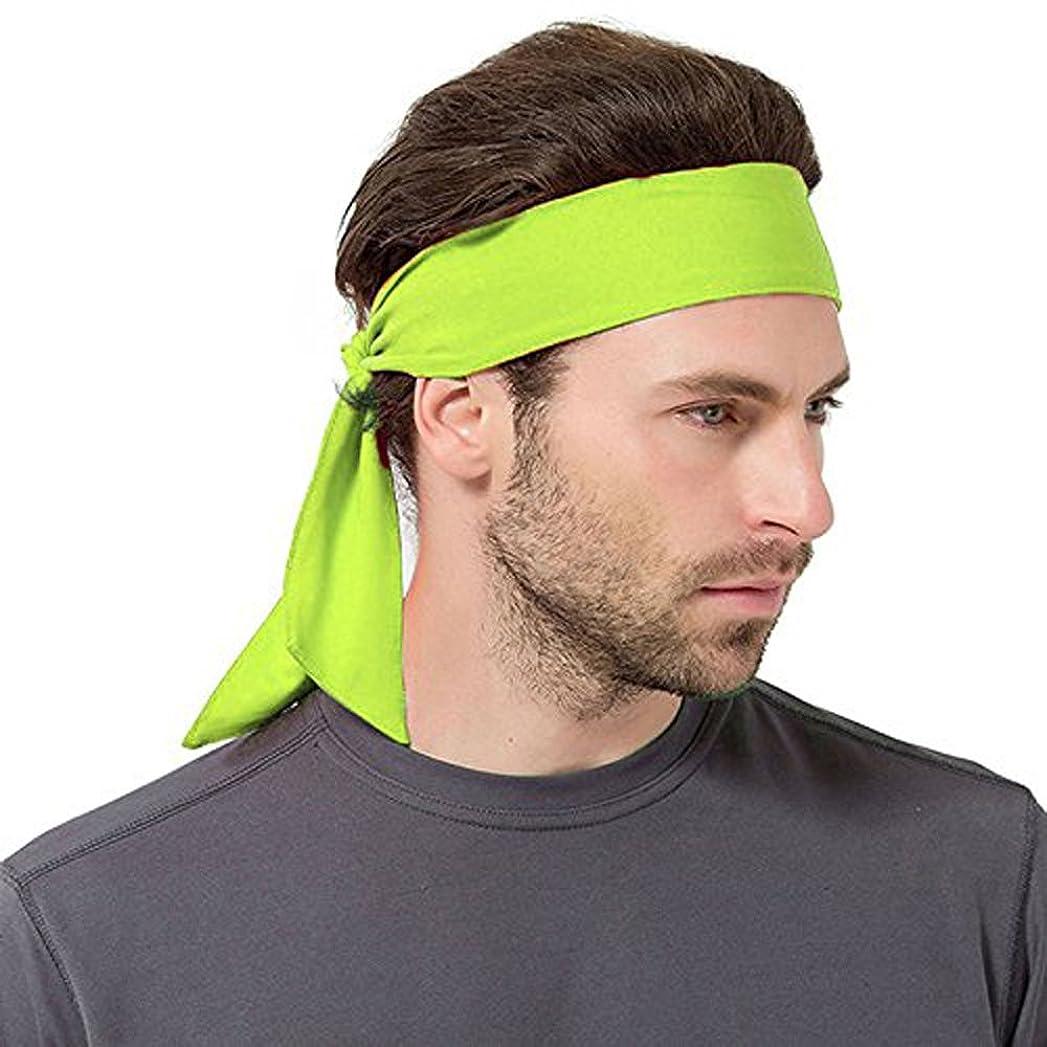 マイク来て日常的に速乾スポーツヘッドバンド?汗や髪が顔にかからない ランニング/ワークアウト/テニス/空手/スポーツ/ピラティスに イエロー