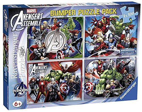 Avengers Rompecabezas 4 x 100 Piezas, Color (Ravensburger 7076)