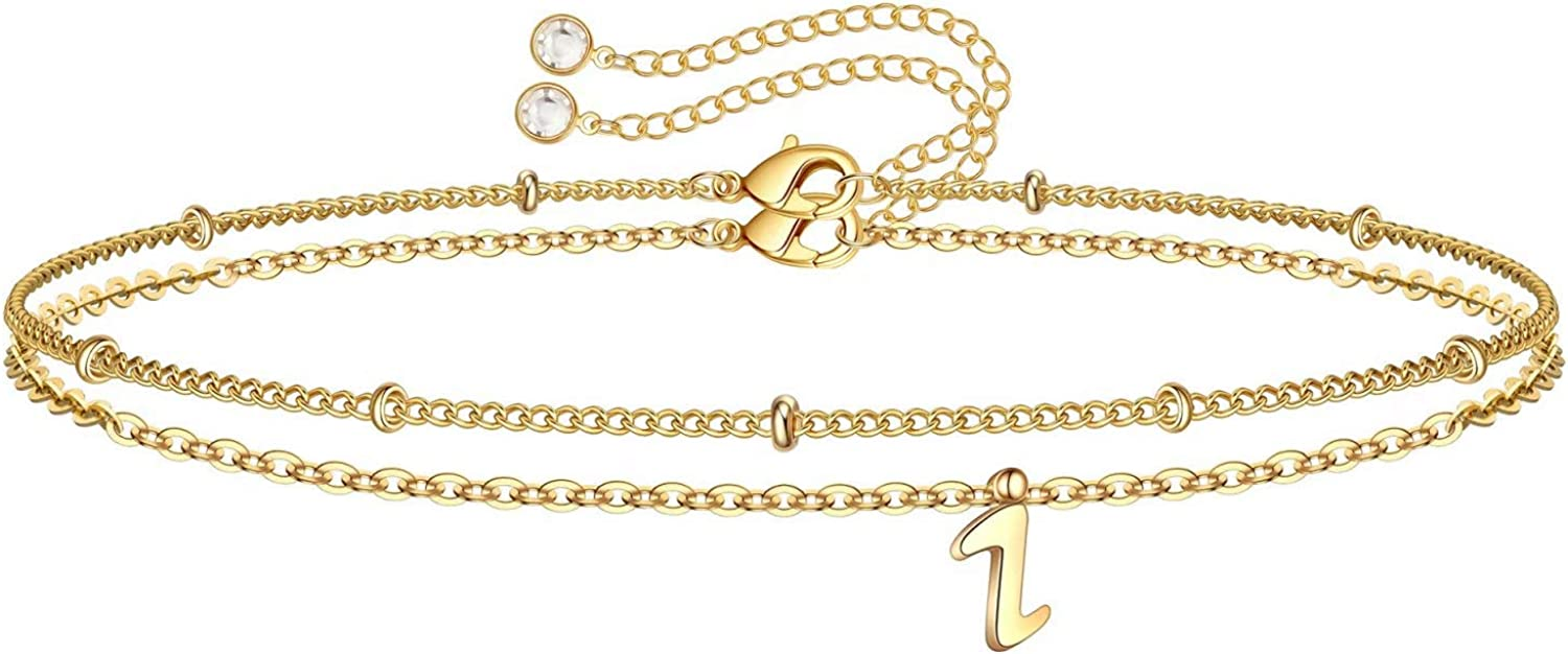 Yoosteel Classic Tiny 70% OFF Outlet Initial Bracelets for Gold Filled 14K Girls Women