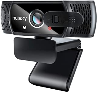 Nulaxy C900 Webcam with Microphone & Privacy Cover, 1080P HD Streaming USB Computer Webcam, Webcam [Plug and Play] for PC ...
