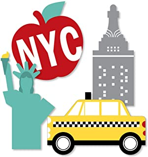 Big Dot of Happiness NYC Cityscape - Big Apple, Taxi, Skyscraper and Lady Liberty Decorations DIY New York City Party Esse...