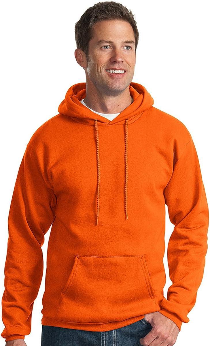 Port & Company Men's Big And Tall Pullover Hooded Sweatshirt_Orange_4XLT