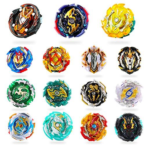 RIMOZO-SPINZ 15 Pieces Bey Battle Top Gyro Burst Turbo Gt God Evolution Metal Fusion Fury Top Birthday Gift Toys for Boys Kids Children